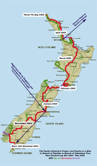 click for detailed map of New Zealand leg