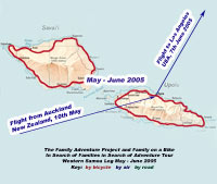 click for detailed map of Samoa leg